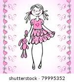 lovely girl how fall in love... | Shutterstock .eps vector #79995352