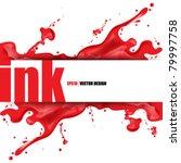 eps10 vector splattered ink...   Shutterstock .eps vector #79997758