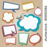 speech bubbles set | Shutterstock .eps vector #80000386