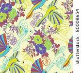 birds of paradise seamless... | Shutterstock .eps vector #80008654