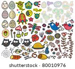 mix of doodle images in vector. ... | Shutterstock .eps vector #80010976