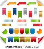 ribbons collection  isolated on ... | Shutterstock .eps vector #80012413