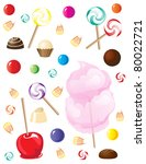 a selection of sweets and... | Shutterstock .eps vector #80022721