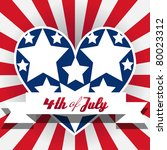 american fourth of july... | Shutterstock .eps vector #80023312