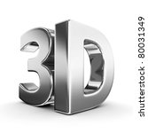 shiny metallic 3d word | Shutterstock . vector #80031349