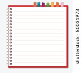 red notebook with bookmark | Shutterstock .eps vector #80031973