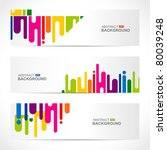 abstract modern website banner... | Shutterstock .eps vector #80039248
