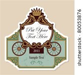 wedding invitation design with... | Shutterstock .eps vector #80053876