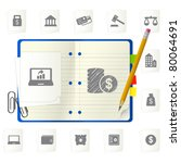 notepad with icons | Shutterstock .eps vector #80064691