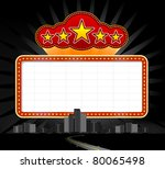neon sign at city | Shutterstock .eps vector #80065498