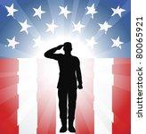 A Patriotic Soldier Saluting In ...