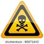 vector skull danger sign  eps10