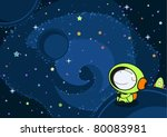 aventura,armadura,astronauta,azul,chico,dibujos animados,caucásico,niño,cosmonauta,cosmos,arte,lindo,oscuro,explorador,vuelo