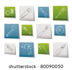 different kind of tools icons   ... | Shutterstock .eps vector #80090050