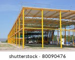 steel structured building | Shutterstock . vector #80090476