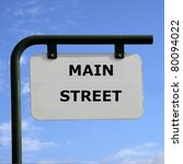 sign main street | Shutterstock . vector #80094022