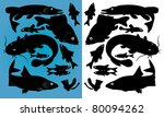 fish silhouettes | Shutterstock .eps vector #80094262