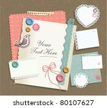 various note papers   scrapbook ...