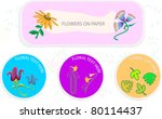 floral and organic signs and... | Shutterstock .eps vector #80114437