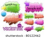 multicolored glossy label with... | Shutterstock .eps vector #80122462