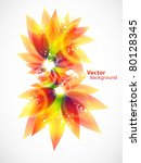 floral abstract vector eps10... | Shutterstock .eps vector #80128345