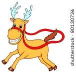 reindeer | Shutterstock . vector #80130736