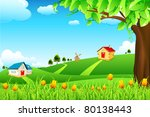 illustration of landscape with... | Shutterstock .eps vector #80138443