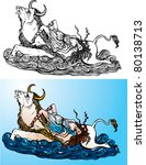 greek myth  the abduction of...   Shutterstock .eps vector #80138713
