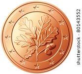 Vector German Coin Euro Cents...