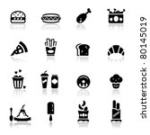 icons set junk food | Shutterstock .eps vector #80145019