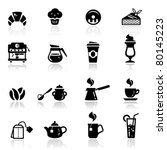icons set cafe icons | Shutterstock .eps vector #80145223