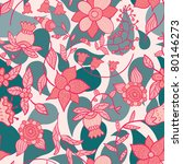 cute floral seamless pattern - stock vector