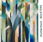 Abstract Painting By Clive...