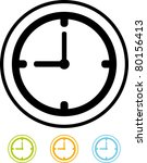 vector clock icon | Shutterstock .eps vector #80156413
