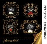 elegance gold frame card... | Shutterstock .eps vector #80160133