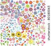 flowers set | Shutterstock .eps vector #80180065