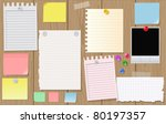 big collection of message paper ... | Shutterstock .eps vector #80197357