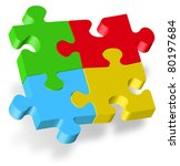 puzzle 3d | Shutterstock . vector #80197684