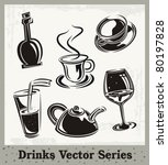 vector set of drink and... | Shutterstock .eps vector #80197828