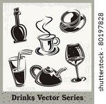 vector set of drink and... | Shutterstock .eps vector #80197828