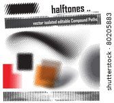 halftone design elements   set | Shutterstock .eps vector #80205883