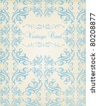 vintage background card in... | Shutterstock .eps vector #80208877
