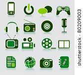 multimedia icon. vector | Shutterstock .eps vector #80209003