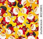 seamless christmas funny cartoon   Shutterstock .eps vector #80218801