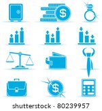 Set of finance icons, illustration - stock vector