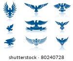 retro eagles insignias set   Shutterstock .eps vector #80240728