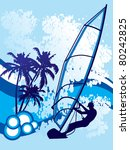 windsurf background vector | Shutterstock .eps vector #80242825