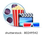 vector illustration of cinema... | Shutterstock .eps vector #80249542