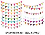 vector bunting   Shutterstock .eps vector #80252959