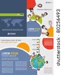 template for advertising... | Shutterstock .eps vector #80256493